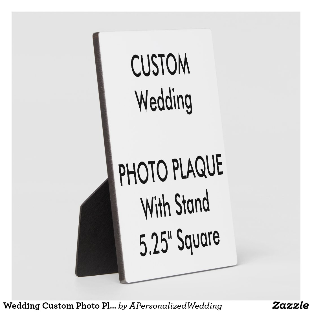 Wedding Custom Photo Plaque 5.25