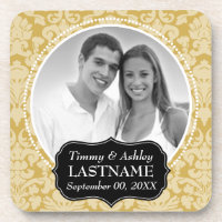 Wedding Favor - Anniversary Keepsake Beverage Coaster