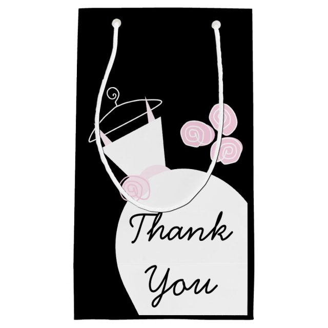 Wedding Gown Pink Thank You gift bag