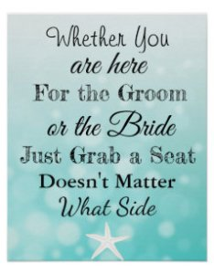 Wedding seating chart sit wherever poster also beach charts posters  prints zazzle uk rh
