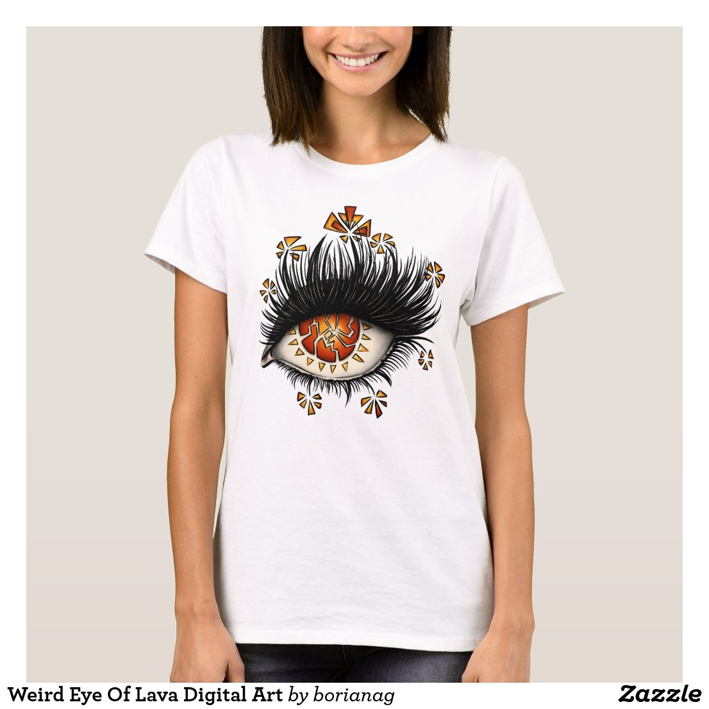 Weird Eye Of Lava Digital Art T-Shirt