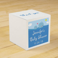 Whales Under the Sea Baby Shower Favor Box