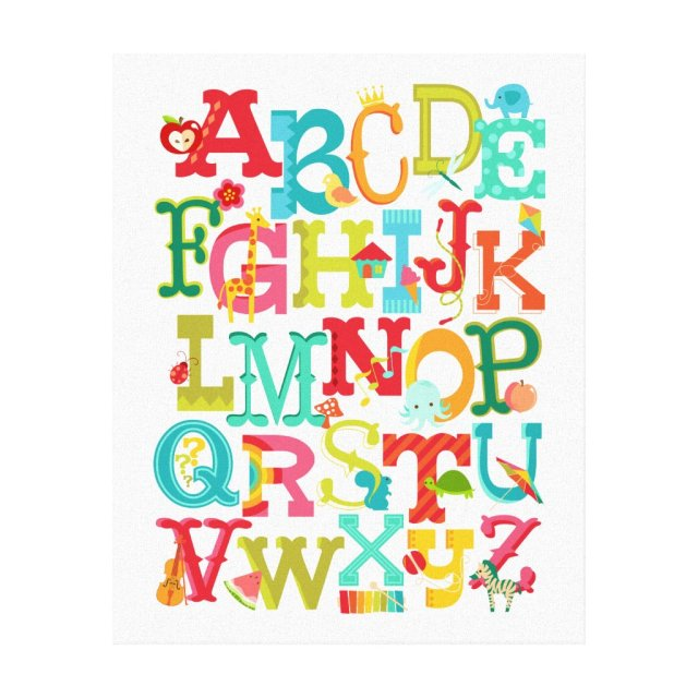 Alphabet Canvas Art