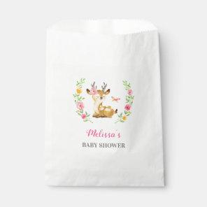 Whimsical Woodland Deer Girl Baby Shower Sprinkle Favour Bags