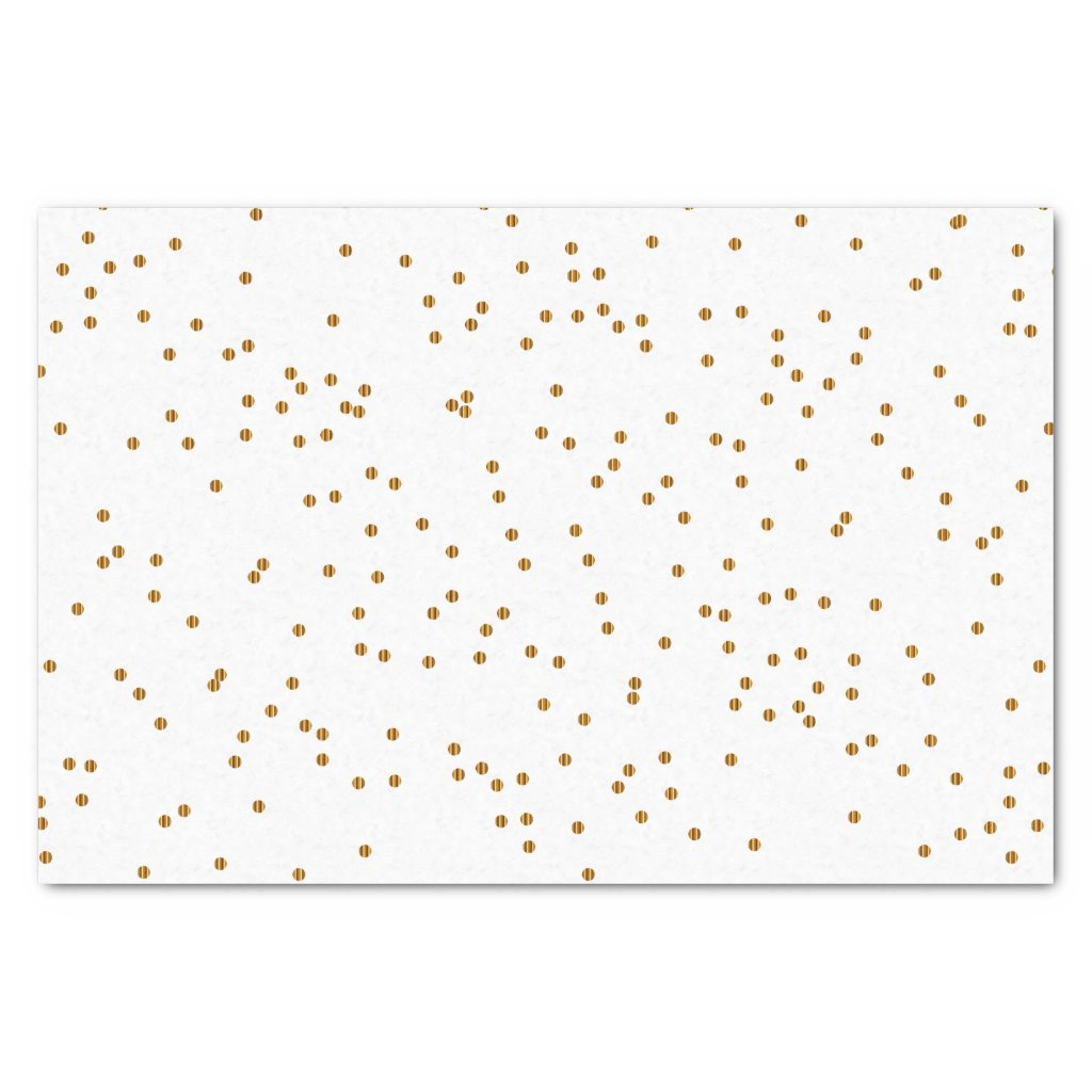 White and Metallic Gold Splatter Tissue Paper