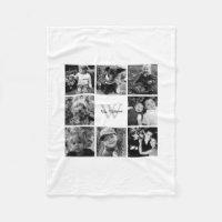 Photo Collage Fleece Blanket
