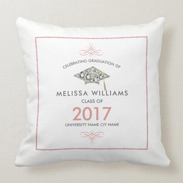 White Diamonds Graduation Hat Class Of 2017