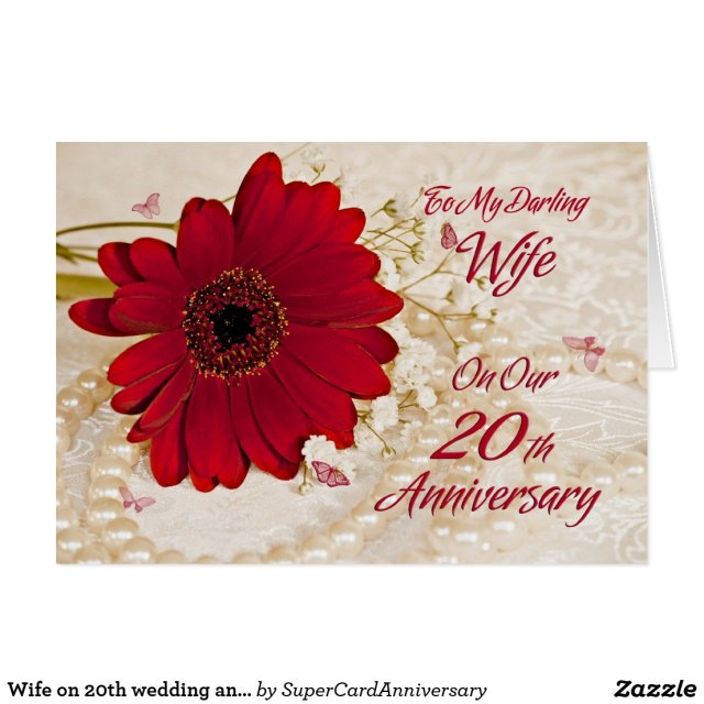 Wife 20th Wedding Anniversary Card