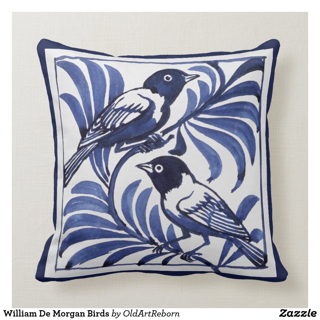 William De Morgan Birds Cushion