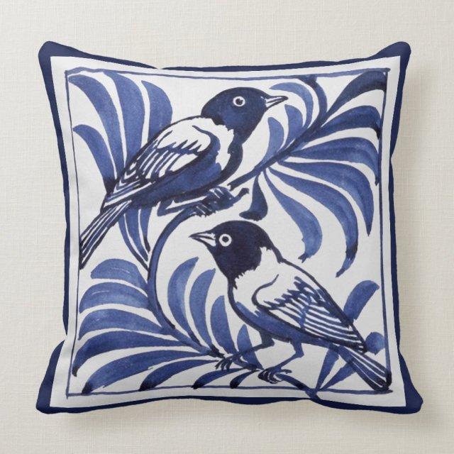 William De Morgan Birds Cushion
