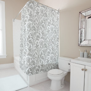 William Morris Pattern Custom Colour Match Decor Shower Curtain