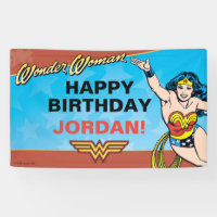 Wonder Woman Birthday Banner
