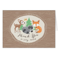 Woodland Friends Thank you Card