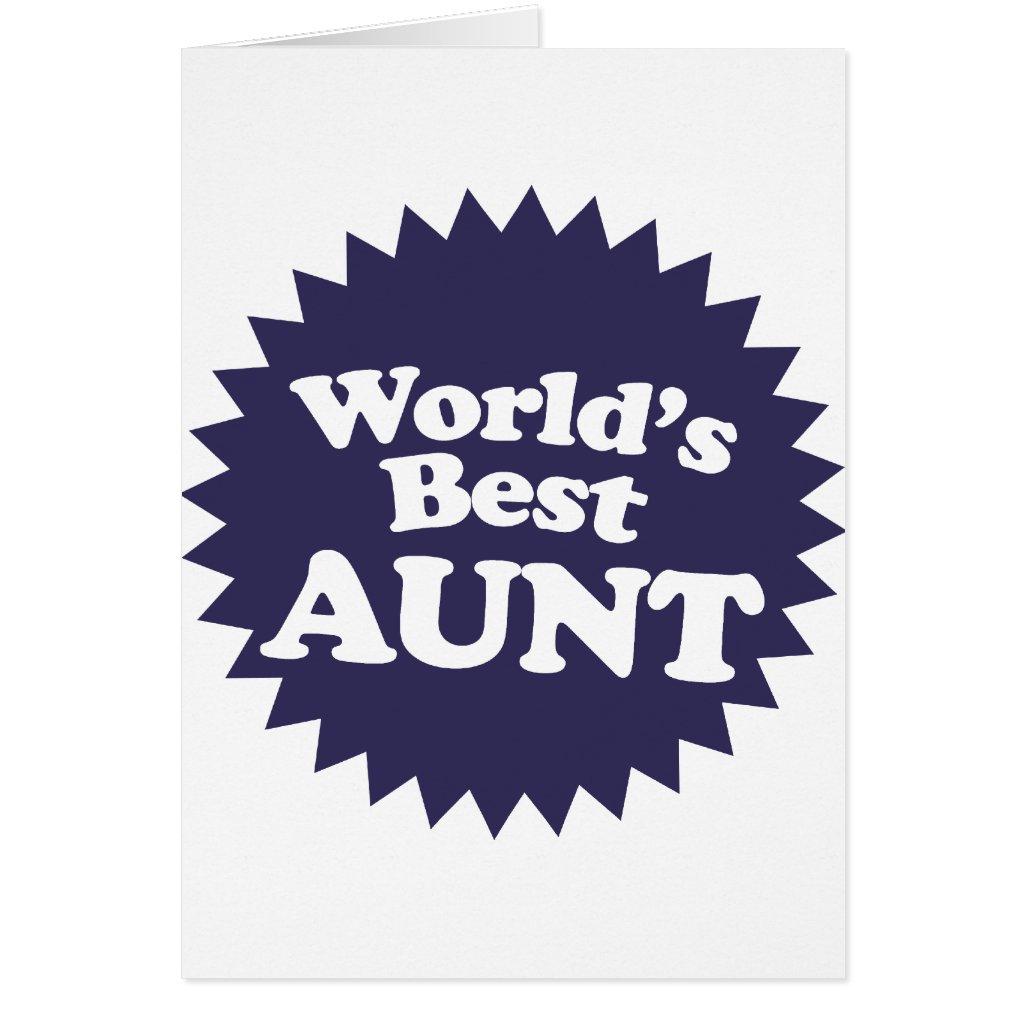 World's Best Aunt Card