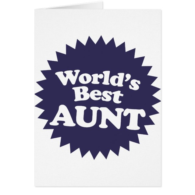 World's Best Aunt Card
