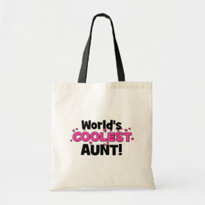 World's Coolest Aunt!  Great gift for Auntie To Be Tote Bag