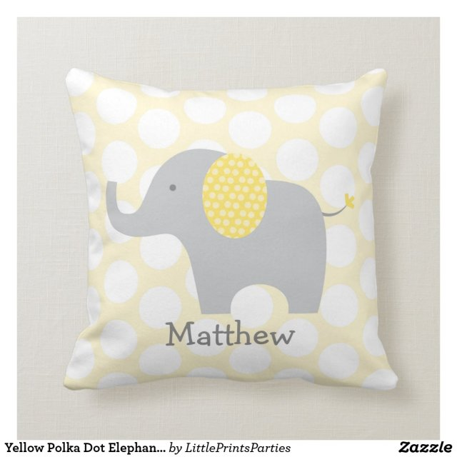 Elephant Nursery Cushion