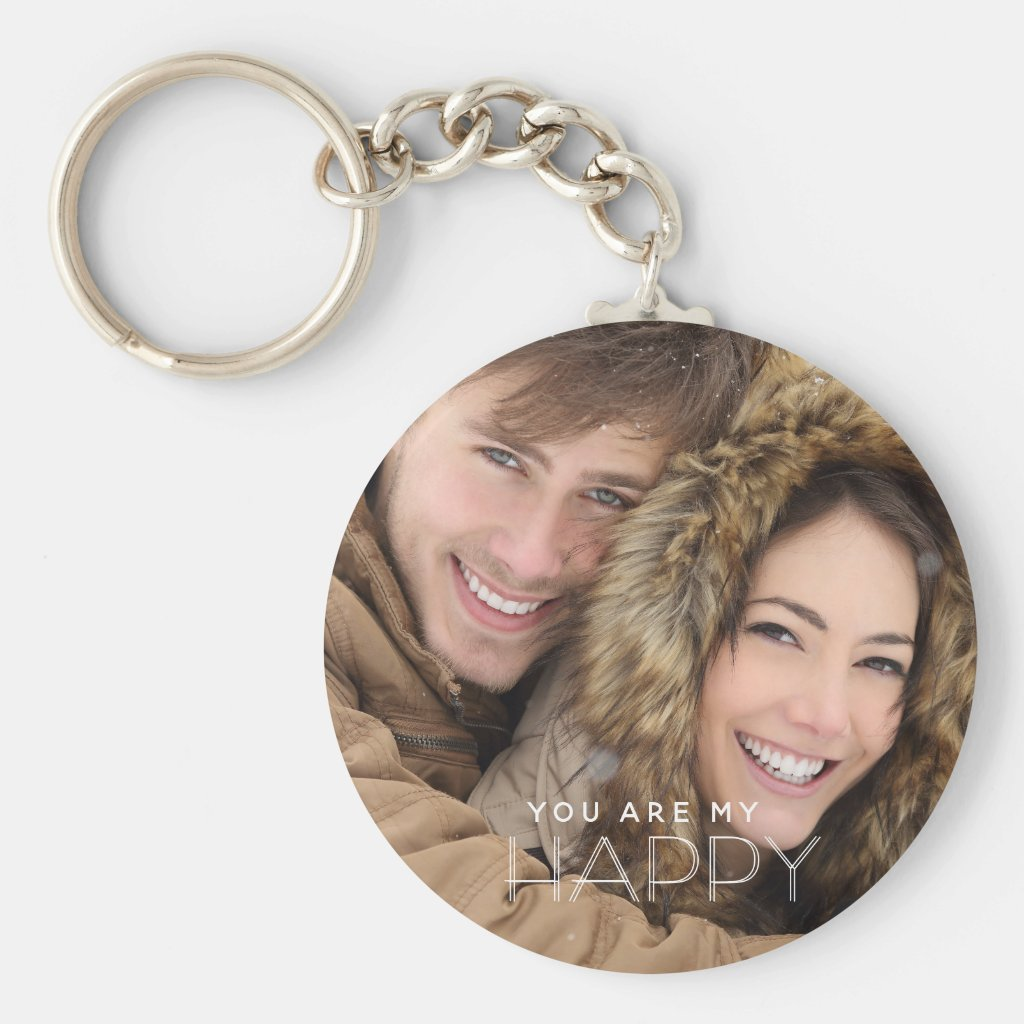 You Are My Happy Keyring