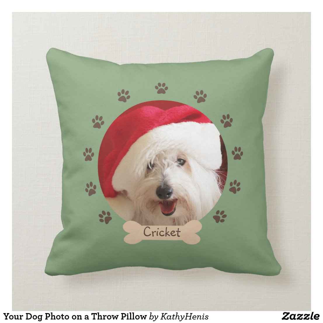 Your Dog Photo on a Throw Pillow
