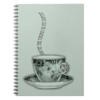 You're the Cream in My Coffee Valentine Spiral Note Book
