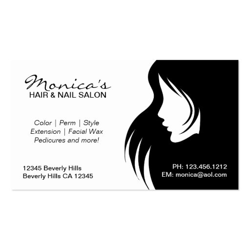 Black and White Hair Salon with Appointment Date Business