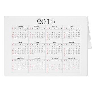 Calendar 2014 Cards, Invitations, Photocards & More