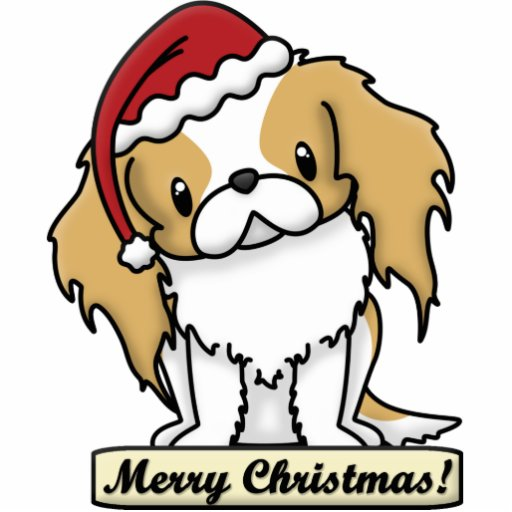 Cartoon Red Japanese Chin Christmas Ornament Cut Out Zazzle