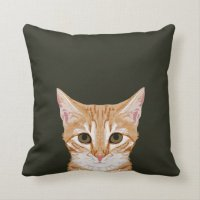 Chase - Cute tabby cat pillow for cat person gifts | Zazzle
