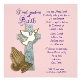 Catholic Confirmation Invitations Amp Announcements Zazzle