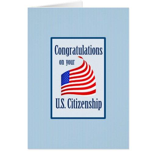 Congratulations US Citizenship US Flag Zazzle