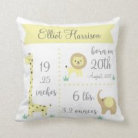 Birth Announcement Cushions - Birth Announcement Scatter ...