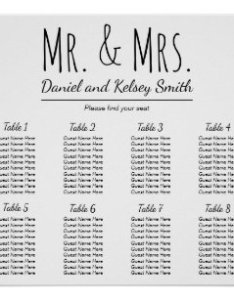 Easy wedding seating chart poster also charts zazzle au rh