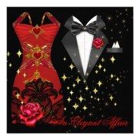 Black Tie Affair Invitations, 218 Black Tie Affair Invites ...