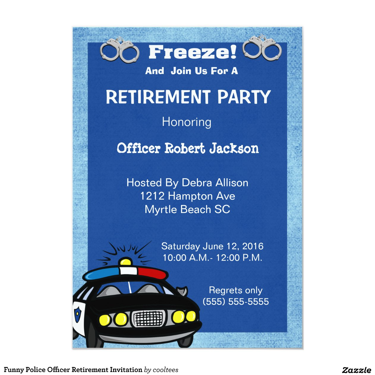 Police Officer Retirement Party Invitations Year Of Clean Water