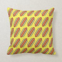 Hot Dog Cushions - Hot Dog Scatter Cushions | Zazzle.com.au