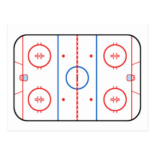nhl hockey rink diagram printable clarion wiring for car stereo studio great installation of ice postcards zazzle au rh com practice plan