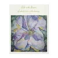 Floral Wall Canvas Prints & Wall Art | Zazzle.com.au