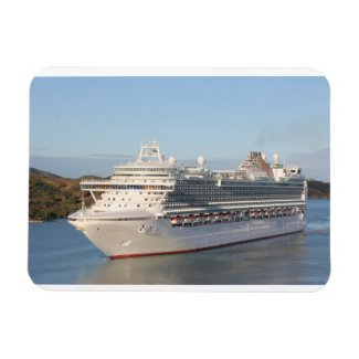 MS Azura Cruise Ship Close-Up on Antigua Flexible Magnet