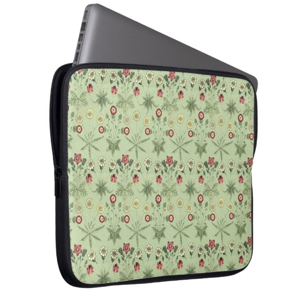 Old World Design Daisies In Mint Green Laptop Sleeve Zazzle