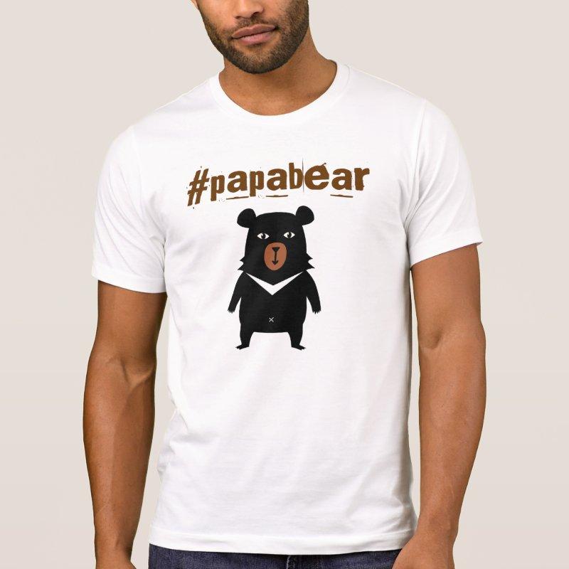 Papabear hashtag tshirt