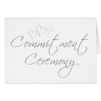 Commitment Ceremony Cards, Invitations, Photocards & More