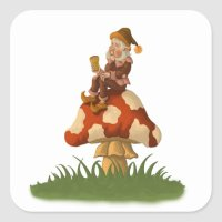 toadstool gnome sticker
