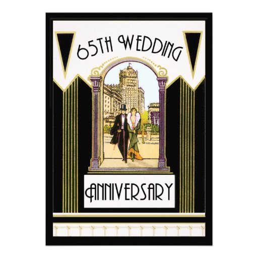 vintage art deco couple 65th wedding