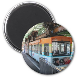 Wuppertal Floating Train Refrigerator Magnet