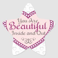 You Are Beautiful Stickers | Zazzle.com.au