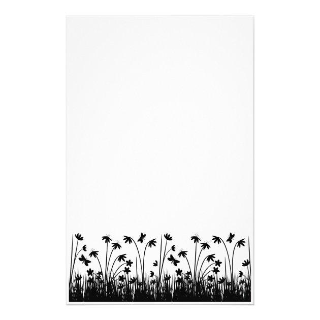 Papelaria Papel de carta preto e branco  Zazzlecombr