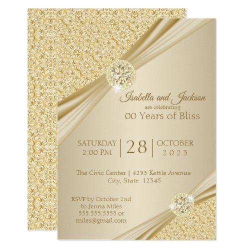 00th Gold Anniversary Design Invitation