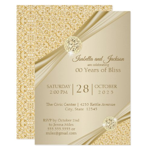 00th Gold Anniversary Design Invitation