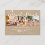 100  Virtual Shower PHOTO Wedding Live Chat Budget Calling Card