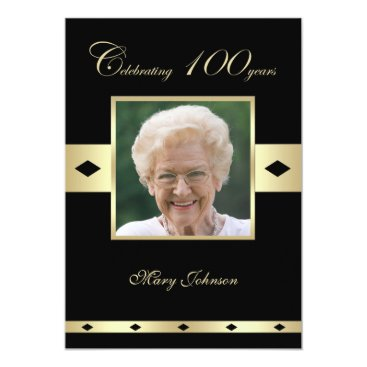100th Birthday Party Invitation Photo 100th